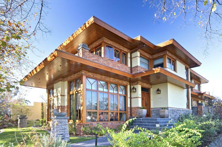 Frank Lloyd Wright Inspired houses.