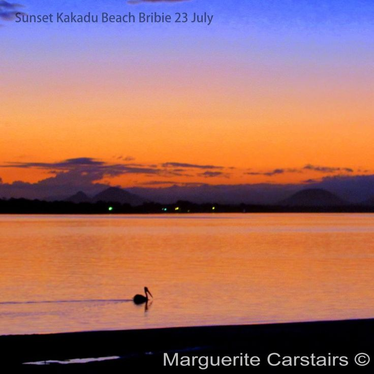 https://flic.kr/s/aHskdeYbEQ | Sunset Bribie island | Kakadu Beach is a great sunset view over the waters with the Glasshouse Mountains on the horizon