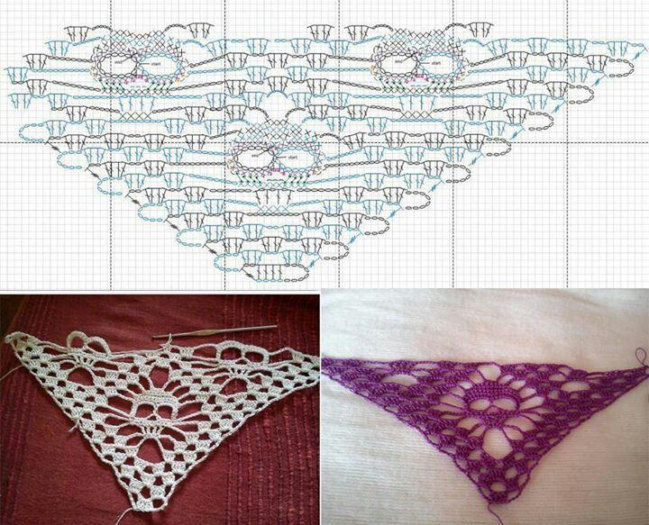 1001 châles à crocheter | 3 petites mailles