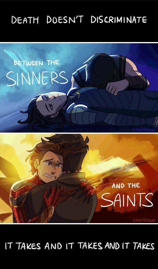 Infinity War – Der Tod unterscheidet nicht zwischen den Sündern und den Heiligen, …