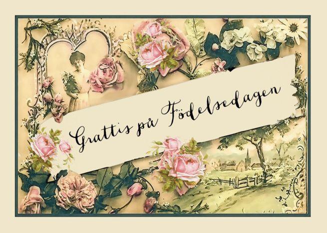 Happy Birthday In Swedish Nostalgic Vintage Roses Card Ad Affiliate Swedish Vintage Rose Cards Happy Birthday In Afrikaans Happy Birthday In Scottish