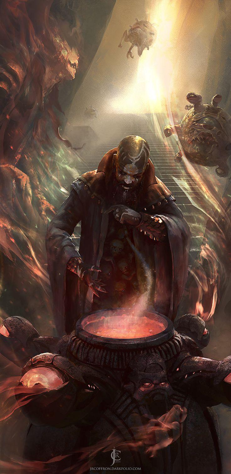 Dark Conjuror, J. R. Coffron on ArtStation at https://www.artstation.com/artwork/dark-conjuror