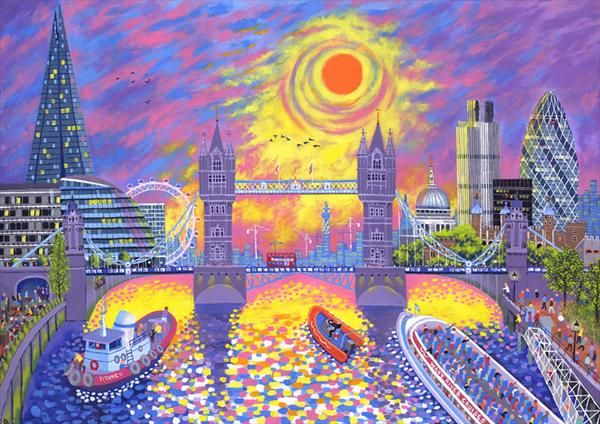 Sunset: Pool of London by David Newton