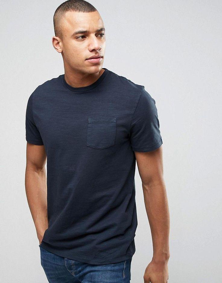 Celio T-Shirt with Pocket - Navy