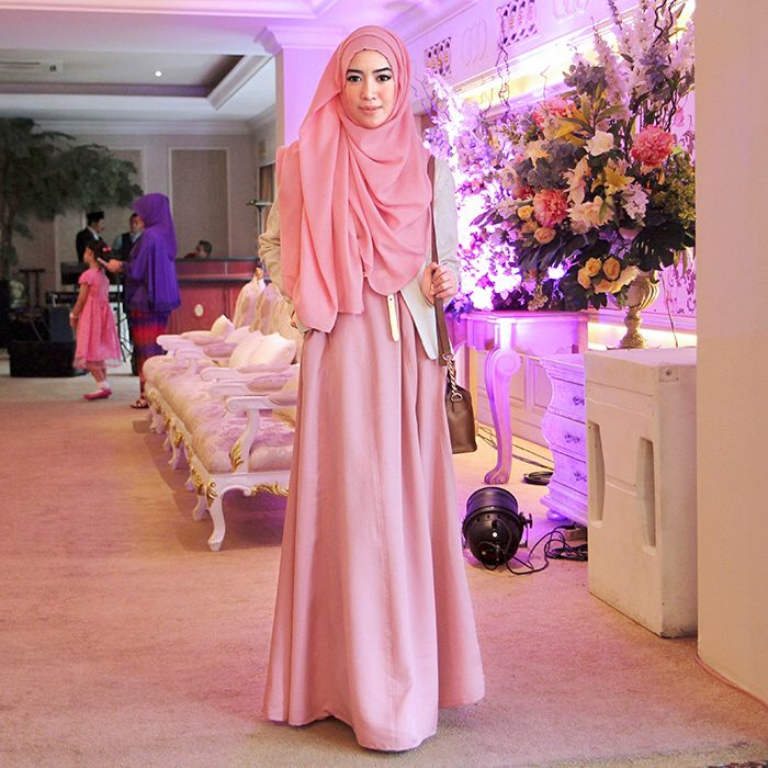 Pink on Pink. Zalfa Dress by KIVITZ. Fitri Aulia.