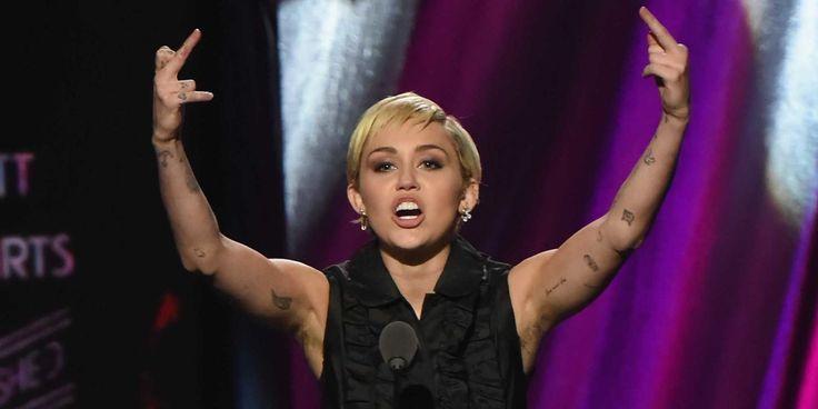 Miley Cyrus Lets Her Armpit Hair Hang Loose, Everyone Freaks Out  - Cosmopolitan.com