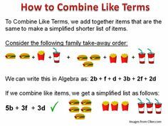combining like terms - Google Search                                                                                                                                                                                 More