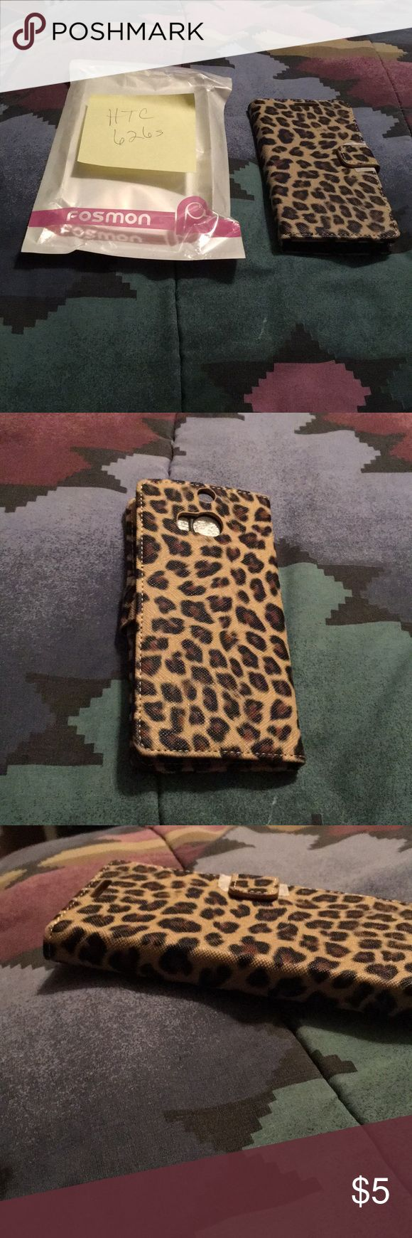 HTC 626s Phone Case Leopard beautiful phone case, never used new with original packaging. Bought for a friend but she switched phone type. Very nice and hard. It need a nice home to go to. HTC Accessories Phone Cases