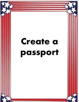 Studying immigration?  Here is a passport that you can use with your students.  Every student will create their own with questions about their nationality and why they immigrated.  A fun hands on activity. #createapassport #handson #immigrationlesson #middleschool