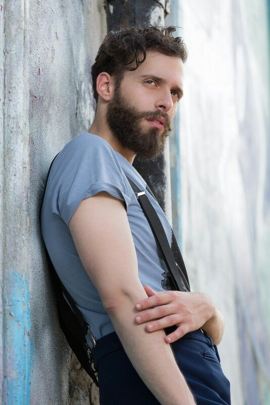 Model: Antonio Bordonaro Ph: Paolo Tuntar Fashion street shooting  Hipster style  Beard life