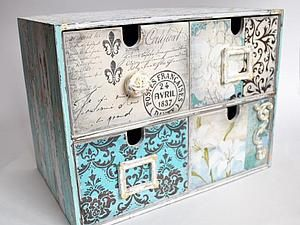 box decoupage, mini frames!