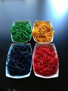Rainbow Noodle Sensory Activity