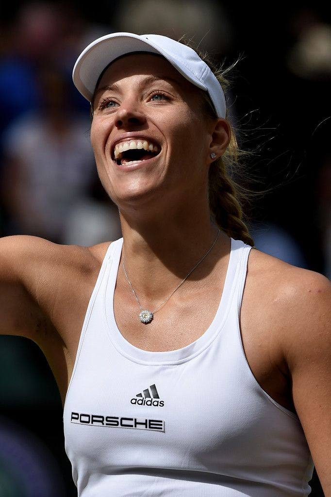 Angelique Kerber of Germany celebrates victory during the Ladies Singles Semi Final match against Venus Williams of The United States on day ten of the Wimbledon Lawn Tennis Championships at the All England Lawn Tennis and Croquet Club on July 7, 2016 in London, England. (Source: Pool/Getty Images Europe)