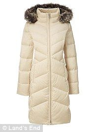 Pearly whites: Land's End coat, $98.99, landsend.com