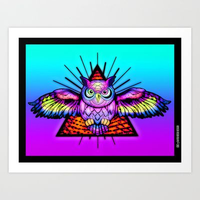 EYES OF PARADOX Art Print by DRD † David Russo Design - $17.68