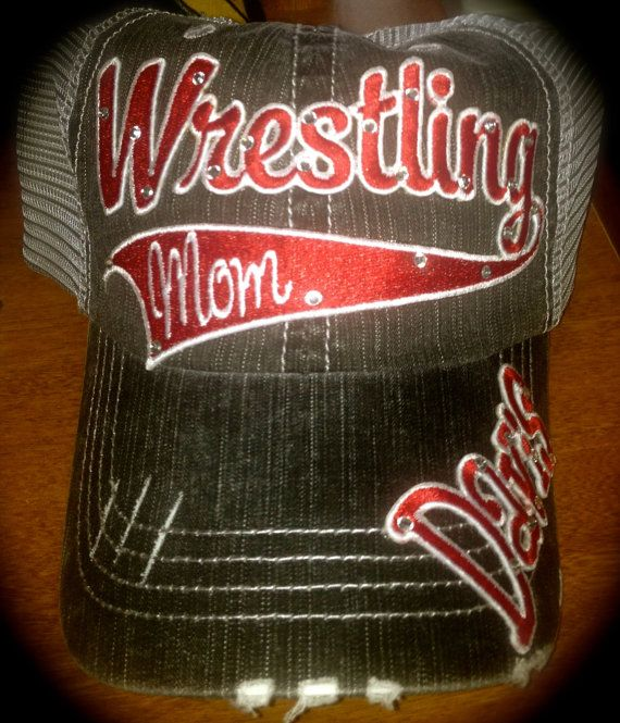 Custom Wrestling Mom Hat by OutlawSoulDesigns on Etsy