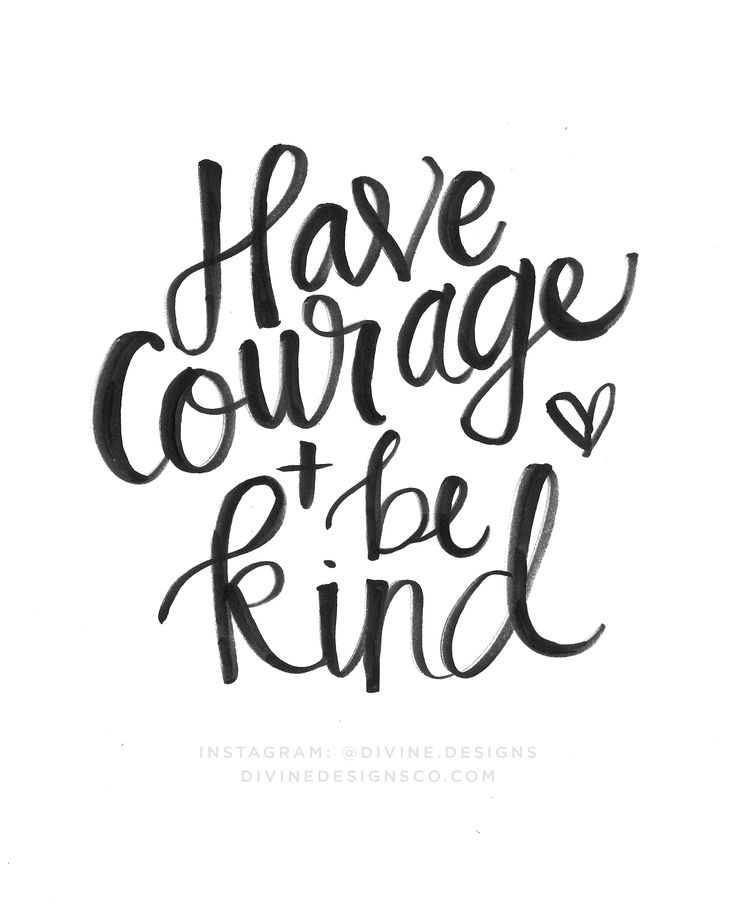 Have Courage and Be Kind - Inspirational Quote Printable - Handwritten Printable - Wall Art Print - Cinderella Quote