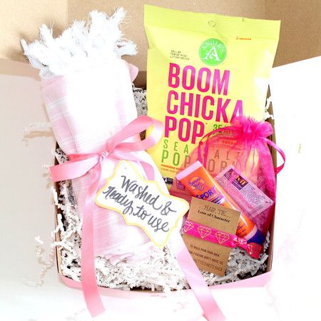 A Little Box of Bachelorette Character - Perfect little box for a bachelorette party! Bachelorette or Pool Party favor that comes with turkish towel, sunscreen and more!