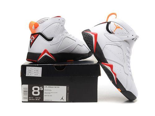 nike air jordan retro 7 vii cardinal white red black 304775 104price
