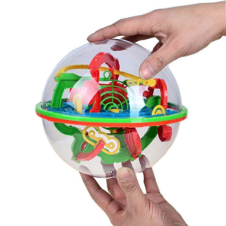 BOHS 100 Schritte Kleine Große Größe 3D Labyrinth Magie Roll Globus Marmor Puzzle Cubes Gehirn Teaser Spiel Kugel Labyrinth