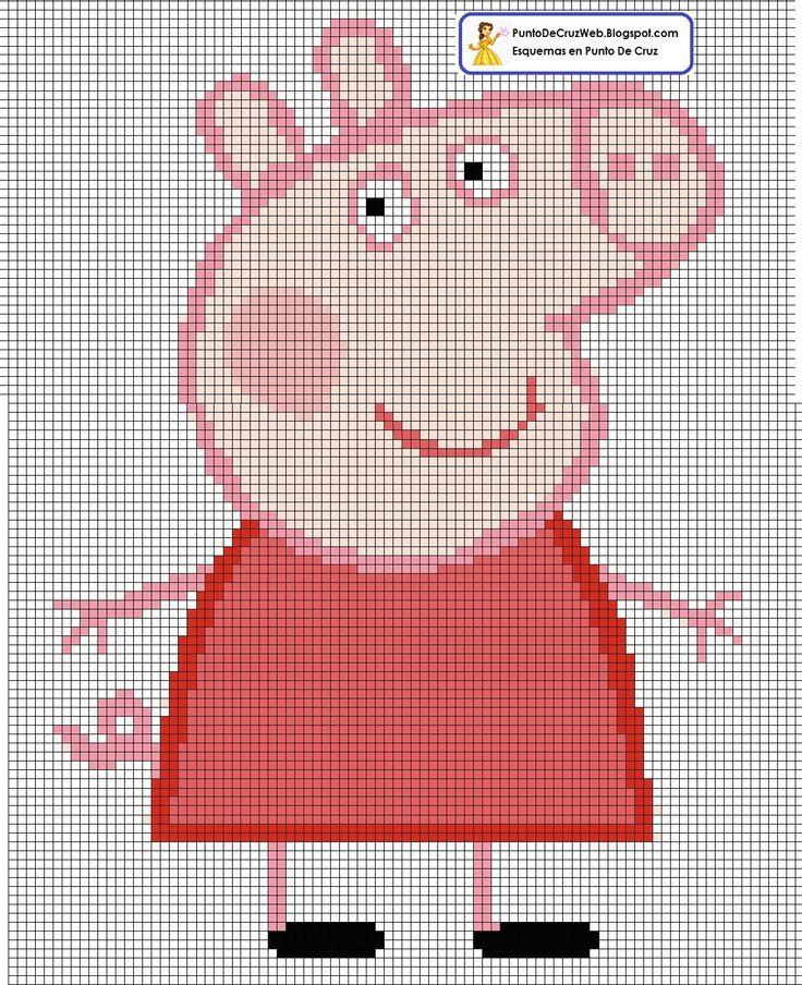 Peppa Pig Punto de cruz