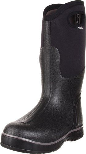 This is a very good and sturdy pair of rain boots. Has been such a relief to not have to worry about avoiding puddles in rainy or slushy weather! The handles at the top make it easy to pull up the boots. The product is made of really good, durable material. Since the boots have no inside lining, one would need to wear thick socks though, in order to keep feet from freezing, so keep that in mind when considering the size.