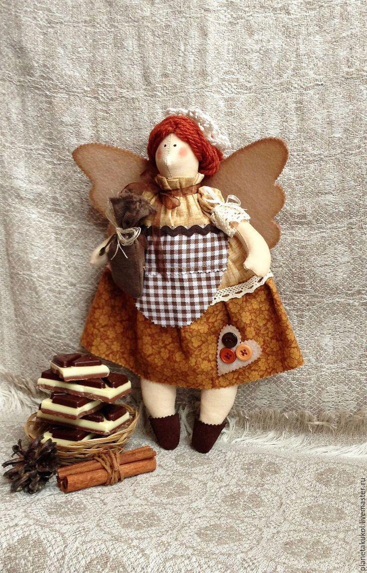 Купить Толстушка Тильда кофейная феечка - ангел тильда, фея тильда, кукла…