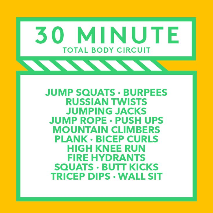 This #workoutWednesday challenge yourself to this 30 minute full body circuit! Do each exercise for one minute before moving on to the next one, then repeat. Share with your workout buddies! #StayAmazing