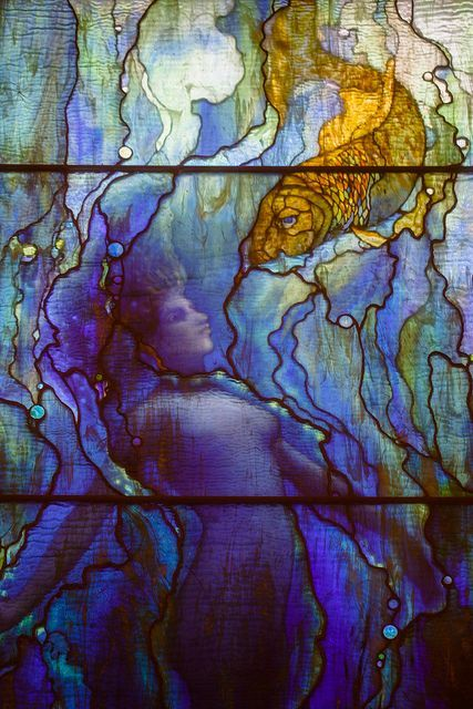 Field Museum - Tiffany stained glass window, Grainger Hall of Gems #StainedGlassMermaid