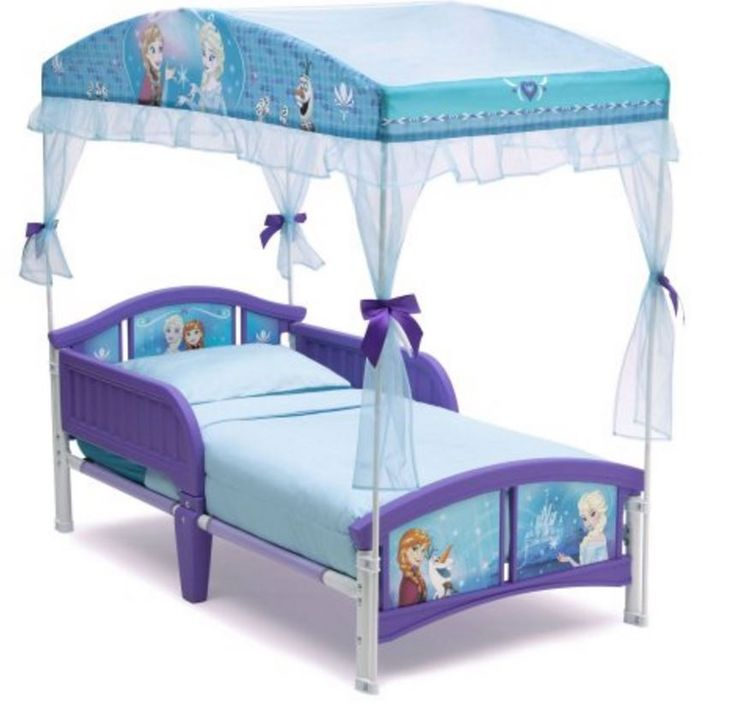 Cheap Bedroom Sets Kids Elsa From Frozen For Girls Toddler: Toddler Beds With Canopy Princess With Rails Frame Frozen