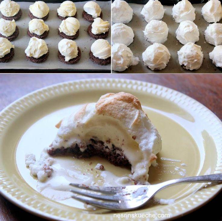 Fırınlanmış Dondurmalı Pasta (Baked Alaska ) - Nesrin Kismar #yemekmutfak