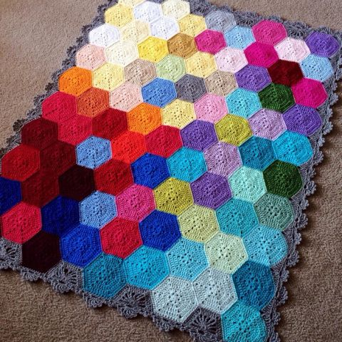 "Design Profile Location: Pennsylvania Pattern: Geometric Lace Materials: Hobby Lobby ""I love this yarn"" and Red Heart Super Saver (I buy from knitting-warehouse.com for a softer product!) Construct…"