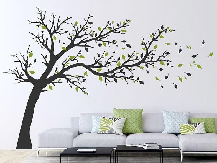 Mit Dem Wandtattoo Großer Baum Im Wind Kannst Du Deine Wand Kreativ  Gestalten.