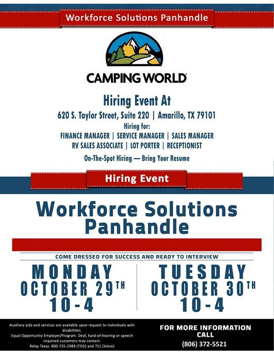 Camping World Job Fair On The Spot Hiring Bring Your Resume When