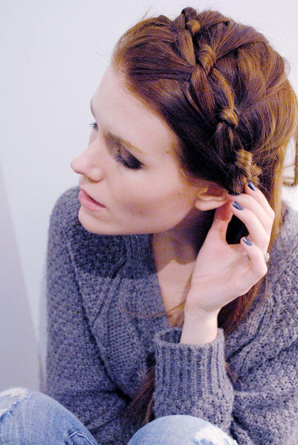 Knotted Milkmaid Braid Primp Hair Styles Braids Hair