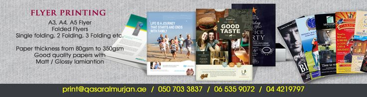 Leading company in Dubai offers the best quality cheap flyer printing services in Dubai.