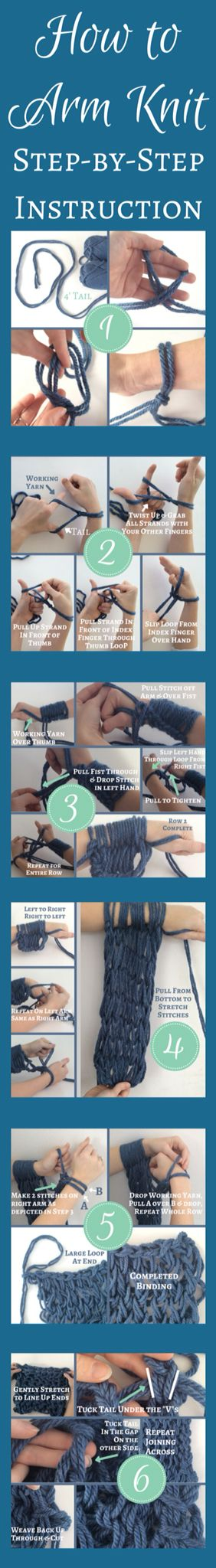 It's so easy to learn how to arm knit - just follow these instructions and you'll be hooked in no time