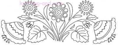 Jacobean style floral embroidery design from Knitting-and.com