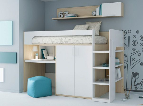 les 25 meilleures id es concernant lit mezzanine sur pinterest lit compact lit mezzanine but. Black Bedroom Furniture Sets. Home Design Ideas