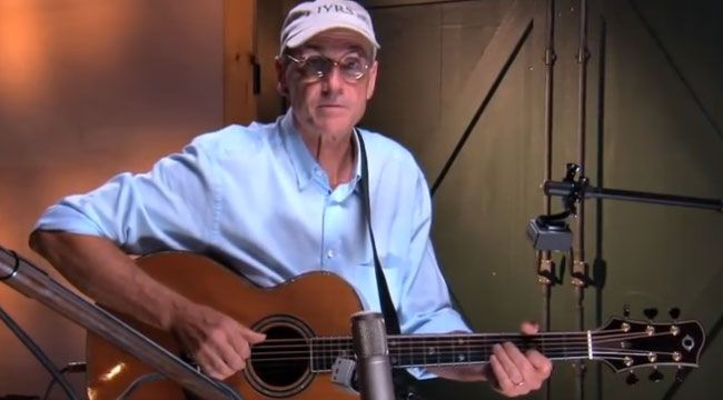 Guitar lessons from James Taylor? Sweet!