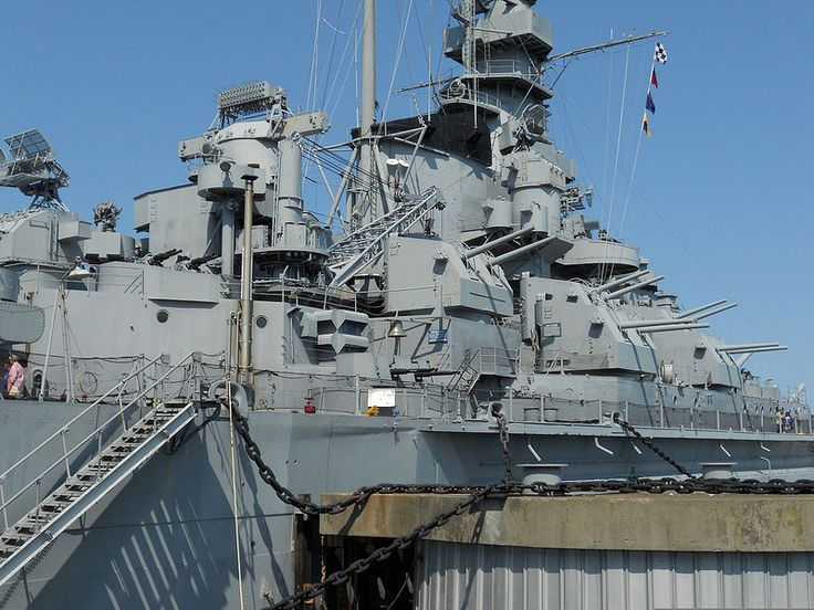 USS Massachusetts Starboard 5-Inch Battery