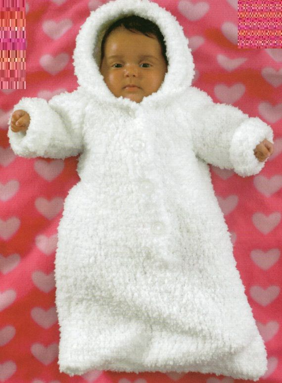 Pdf Knitting Pattern Baby S Chunky Knit Sleeping Bag