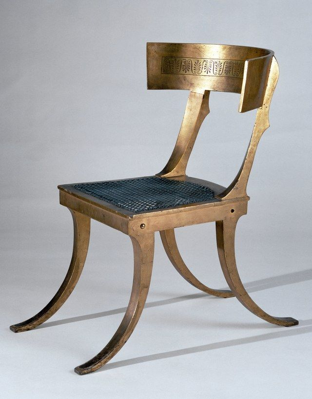 """""""The Greek klismos, which appeared in the fifth century B.C., is considered one of the most graceful chairs ever conceived. It has been imitated over the ages, most recently by Michael Graves for JCPenney."""""""