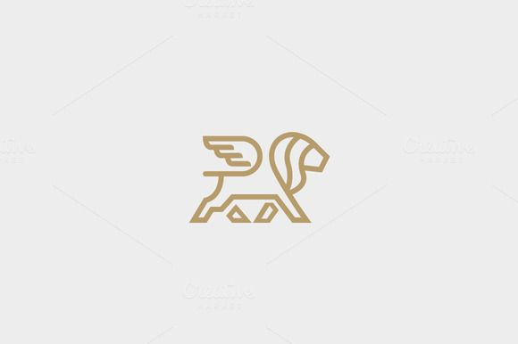 Lion with wings logo design  @creativework247