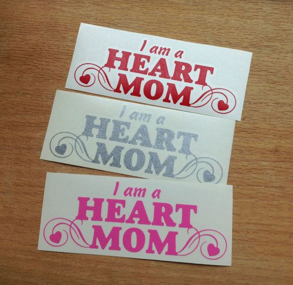 HEART MOM decal by AmericanHoneyDecals on Etsy, $3.00