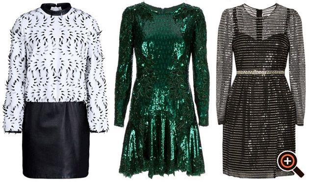 Paillettenkleid gold, silber, schwarz, rot, blau, grün - Designer Kleider