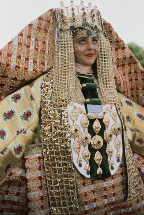 "Africa | ""Muslim bride in wedding costume"", Fez, Morocco 