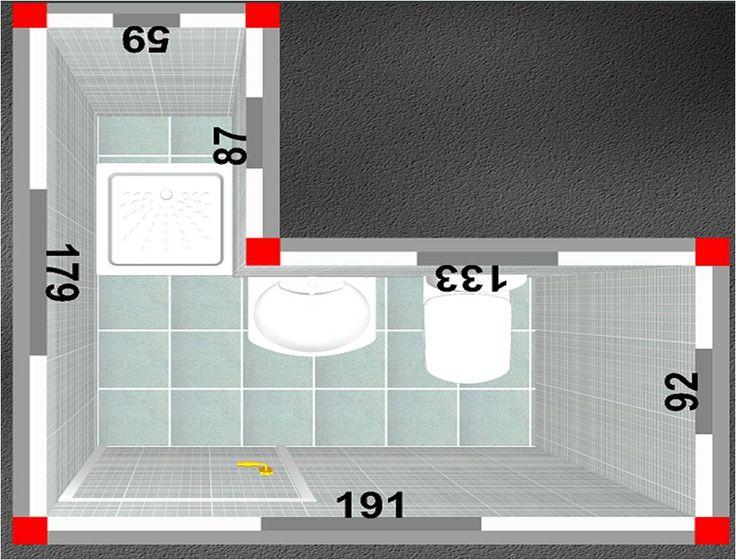 Ba o con ducha el plato de ducha m s peque o 60x60 - Inodoros pequenos medidas ...