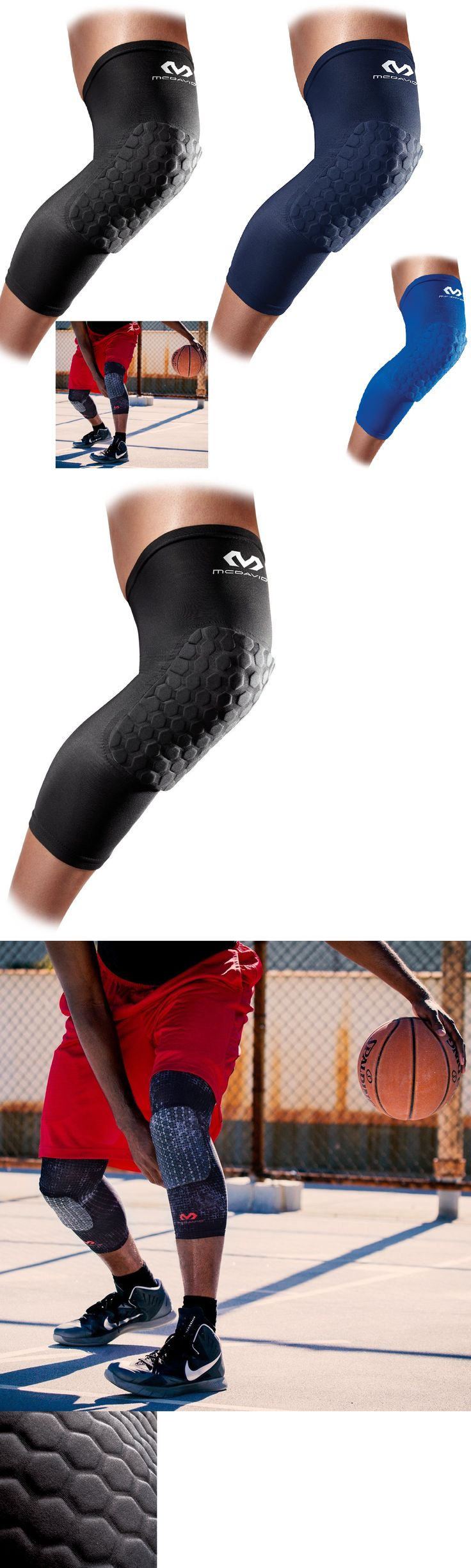 Protective Gear 158969: Basketball Knee Pads Mcdavid 6446 Hex Padded Compression Leg Sleeve One Pair -> BUY IT NOW ONLY: $40.1 on eBay!