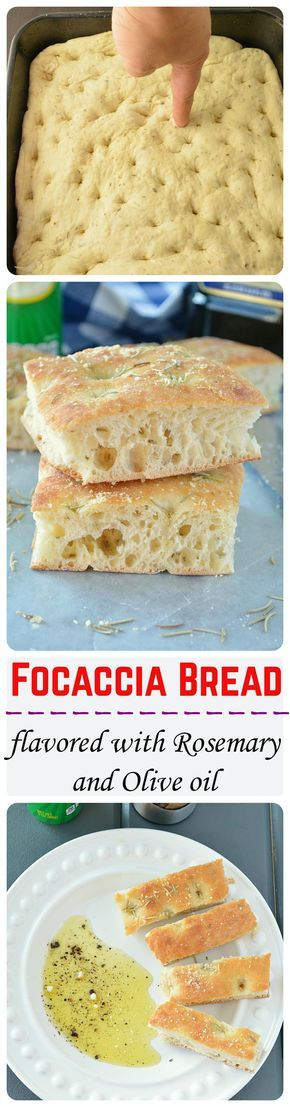 Light, airy and crunchy focaccia bread flavored with Italian herb seasoning and topped with dried rosemary and olive oil. Totally yum!! foodiedelicious.com